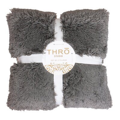 Chubby Throw Pillow Color: Charcoal