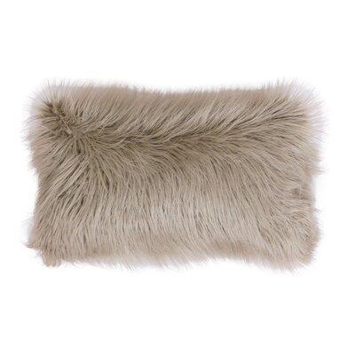 Keller Mongolian Lumbar Pillow Color: Humus