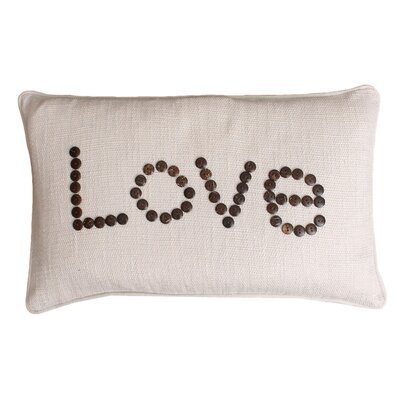Catalina Love Coconut Button Lumbar Pillow