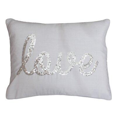 Love Sequin Lumbar Pillow