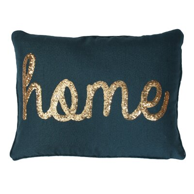 Loren Home Sequin Lumbar Pillow Color: Deep Teal Gold