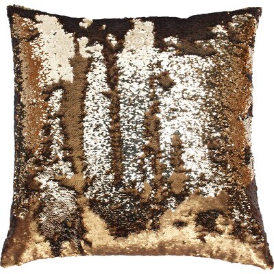 Melody Mermaid Throw Pillow Color: Copper Copper