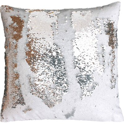 Melody Mermaid Throw Pillow Color: White Silver