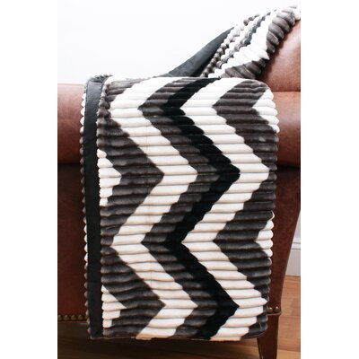 Charlene Ribbed Fleece Throw
