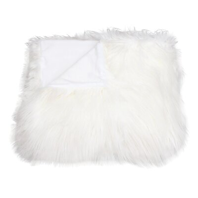 Keller Throw Blanket Color: Bright White