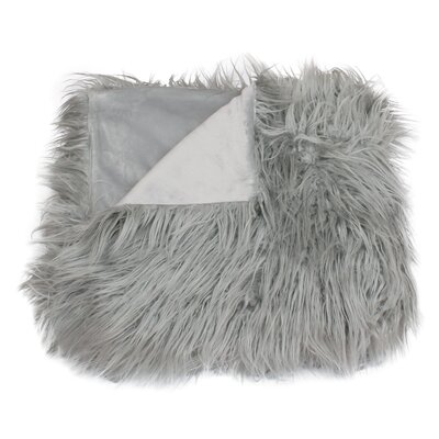 Keller Throw Blanket Color: Silver