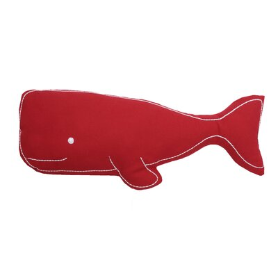 Swell Whale Pillow Color: Red
