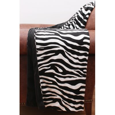 Zoe Zebra Microplush Throw