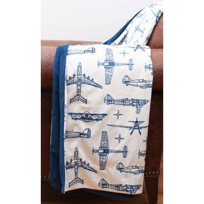 Blueprint Airplane Microplush Throw