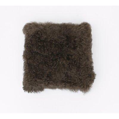 Mongolian Fur Throw Pillow Color: Walnut