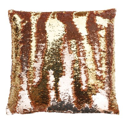 Melody Mermaid Throw Pillow Color: Rose Smoke Gold
