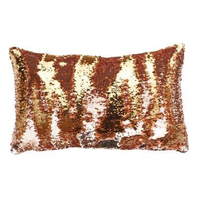Mermaid Sequin Reversible Melody Lumbar Pillow Color: Rose Smoke Gold