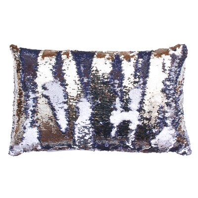 Mermaid Sequin Reversible Melody Lumbar Pillow Color: Nirvana Silver