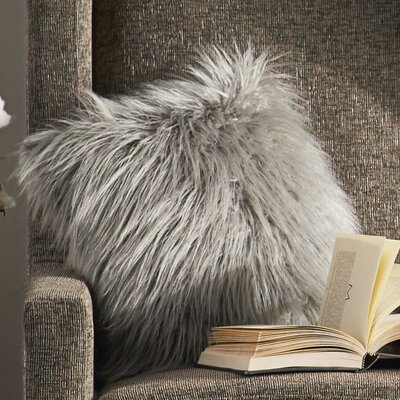 Keller Throw Pillow Color: Silver, Size: 26 H x 26 W x 1 D