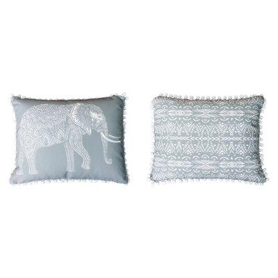 Attleboro Emmet Elephant Pom Pom Lumbar Pillow Color: Drizzle
