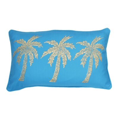 Margi Palm Tree Lumbar Pillow Color: Caribbean Sea Gold