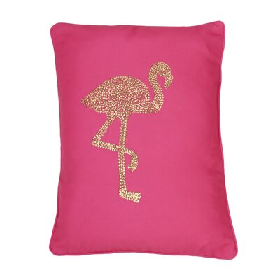 Elva Flamingo Lumbar Pillow Color: Fandango Pink Gold