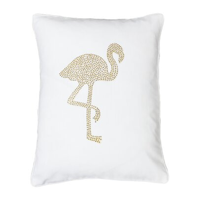 Elva Flamingo Lumbar Pillow Color: Bright White Gold