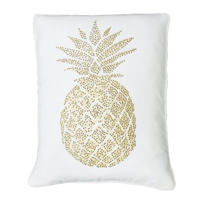 Elzada Pineapple Throw Pillow Color: Egret Gold