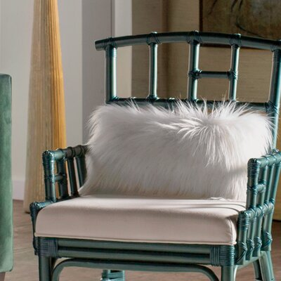 Vanbuskirk Faux Fur Lumbar Pillow Color: Bright White