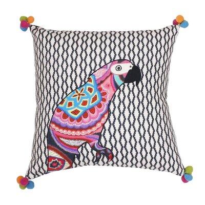 Jax Embroidered Cotton Throw Pillow