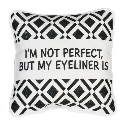 Alkmene Eyeliner Mini Cotton Throw Pillow