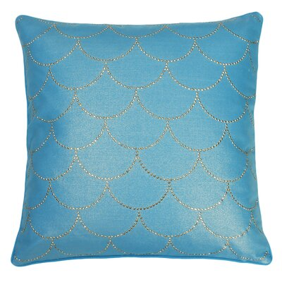 Adison Diamond Scale Throw Pillow Color: Caribbean Sea