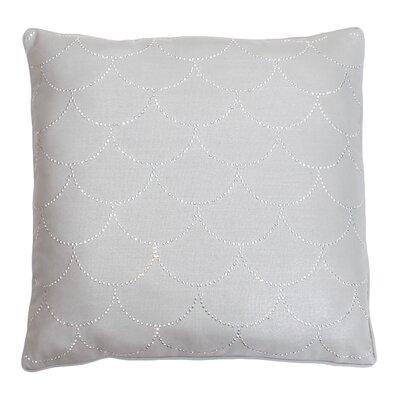 Adison Diamond Scale Throw Pillow Color: Silver