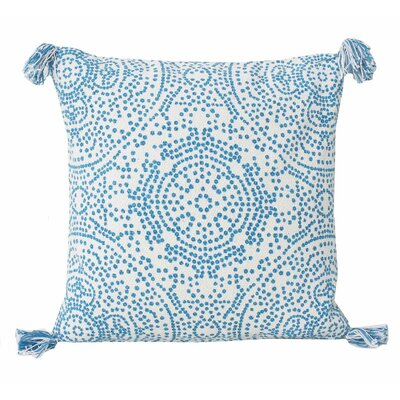 Cherree Reversible Dot Cotton Throw Pillow Color: Caribbean Sea