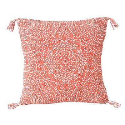 Cherree Reversible Dot Cotton Throw Pillow Color: Coral Quartz