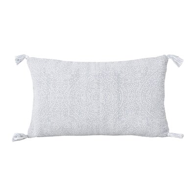 Cherree Reversible Dot Cotton Lumbar Pillow Color: Zen Blue/Bright White