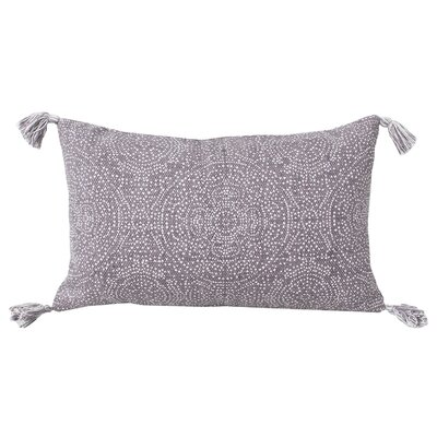 Cherree Reversible Dot Cotton Lumbar Pillow Color: Nirvana/Bright White