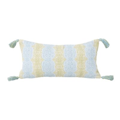 Axis Reversible Cotton Lumbar Pillow Color: Sea Angel Nile