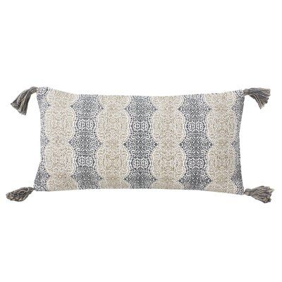 Cherrelle Reversible Cotton Lumbar Pillow Color: Crockery Charcoal