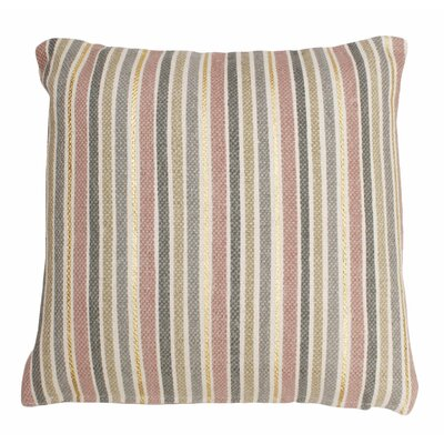Scott Stripe Foil Printed Cotton Throw Pillow Color: Rose/Smoke/Gold