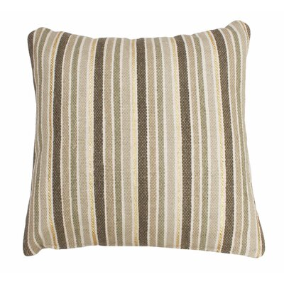 Scott Stripe Foil Printed Cotton Throw Pillow Color: Antique/Gold