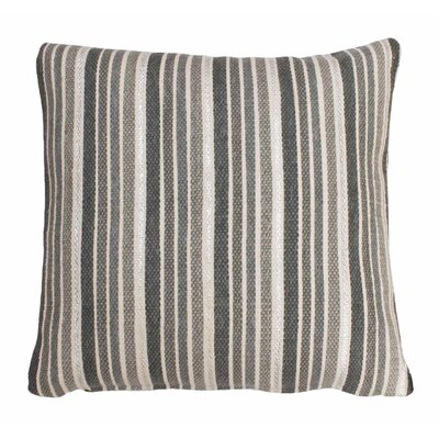 Scott Stripe Foil Printed Cotton Throw Pillow Color: Vapor/Silver