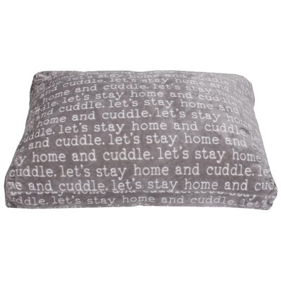 Cuddle Words Printed Flannel Fleece Dog Pad