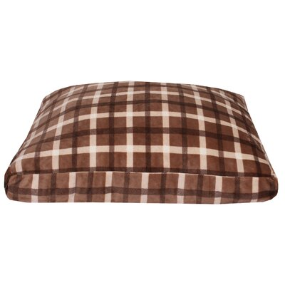 Chunky Plaid Printed Fleece Dog Pad Color: Brown