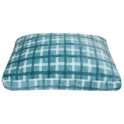 Chunky Plaid Printed Fleece Dog Pad Color: Blue