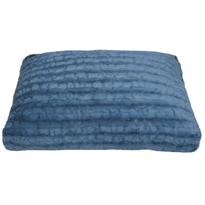 Reagan Faux Fur Dog Pad Color: Blue