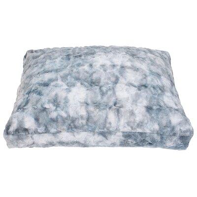 Darwin Brushed Faux Fur Dog Pad Color: Blue