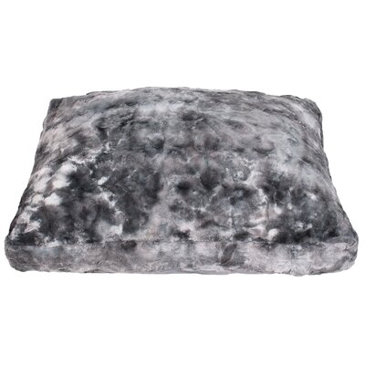 Darwin Brushed Faux Fur Dog Pad Color: Silver