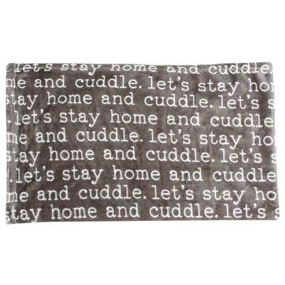 Cuddle Printed Flannel Fleece Pet Pad Color: Gray