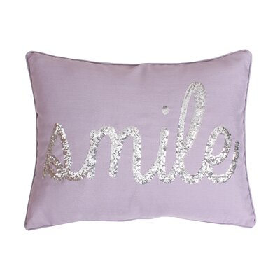 Alter Smile Sequin Script Linen Lumbar Pillow