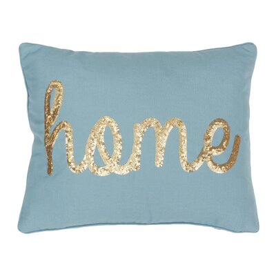 Altieri Home Sequin Script Linen Lumbar Pillow