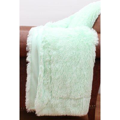 Alvarado Faux Fur Throw Color: Bay