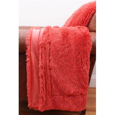 Alvarado Faux Fur Throw Color: Spiced Coral
