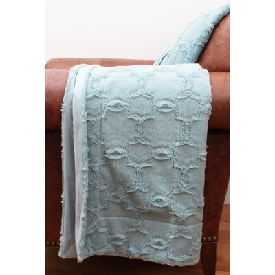 Hoefer Quatrefoil Brushed Faux Fur Throw Color: Tourmaline