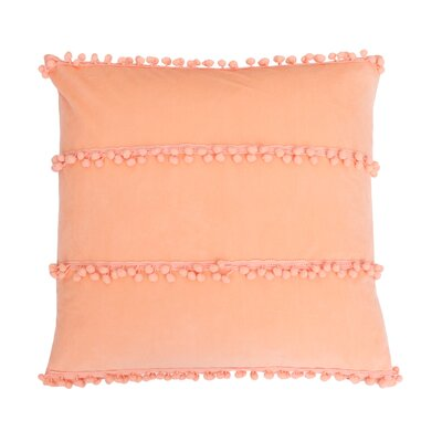 Rahma Pom Pom Throw Pillow Color: Canteloupe